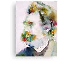 FRIEDRICH NIETZSCHE watercolor portrait.8 Canvas Print