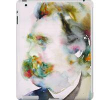 FRIEDRICH NIETZSCHE watercolor portrait.8 iPad Case/Skin