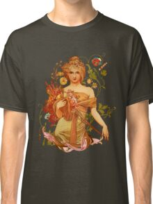 Mucha Floral Classic T-Shirt