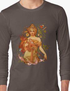 Mucha Floral Long Sleeve T-Shirt