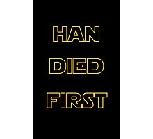 Star Wars - Han Died First Photographic Print
