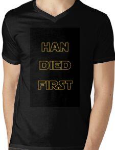 Star Wars - Han Died First Mens V-Neck T-Shirt