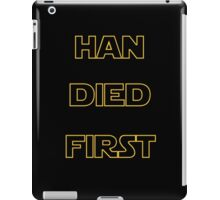 Star Wars - Han Died First iPad Case/Skin