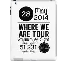 28th may - Stadium of light WWAT iPad Case/Skin