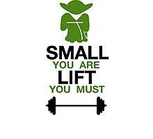 Yoda Lifting Inspiration  Photographic Print