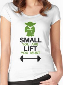 Yoda Lifting Inspiration  Women's Fitted Scoop T-Shirt