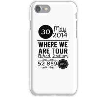 30th may - Eithad Stadium WWAT iPhone Case/Skin