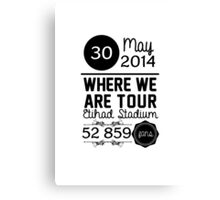 30th may - Eithad Stadium WWAT Canvas Print