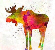 Moose 03 in watercolor by paulrommer