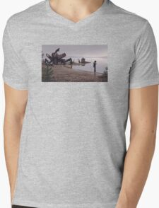 In the mud Mens V-Neck T-Shirt