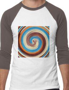 Modern Swirl Abstract Art #4 Men's Baseball ¾ T-Shirt