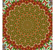 Red and Green Christmas Kaleidoscope Photographic Print