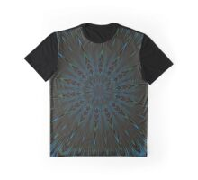 Teal and Brown Feather Abstract Graphic T-Shirt