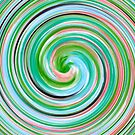 Modern Swirl Abstract Art #5 by Nhan Ngo