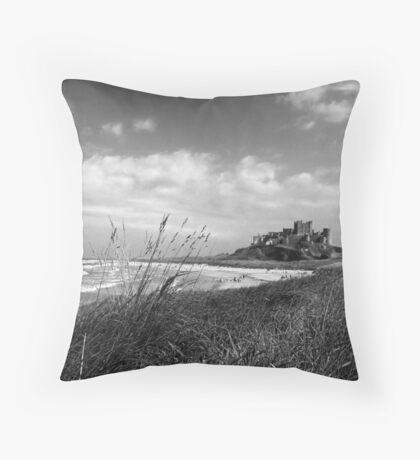 Bamburgh Castle Northumberland Coast Throw Pillow