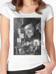 The Third Man poster design Women's Fitted Scoop T-Shirt