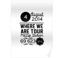 4th august - MetLife Stadium WWAT Poster