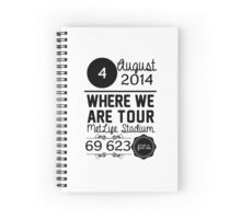 4th august - MetLife Stadium WWAT Spiral Notebook