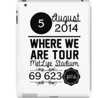 5th august - MetLife Stadium WWAT iPad Case/Skin