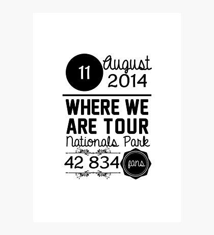 11th August - Nationals Park WWAT Photographic Print