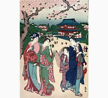 Cherry Blossom Viewing At Ueno - Shunzan Katsukawa - 1781 - woodcut Unisex T-Shirt