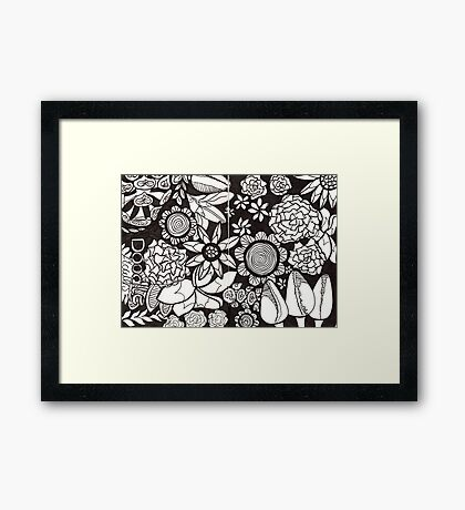 Flower Fusion Collection Framed Print