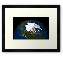 Arctic sea ice in 2005. Framed Print
