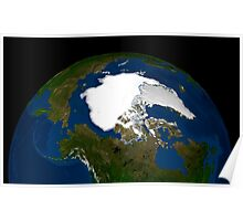 Arctic sea ice in 2005. Poster
