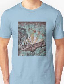 Vintage Blue Maritime Graffiti Unisex T-Shirt
