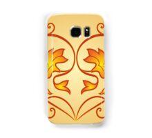 Orange Burning Heart Flower Design Samsung Galaxy Case/Skin
