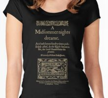 Shakespeare, A midsummer night's dream. Dark clothes version Women's Fitted Scoop T-Shirt