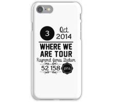3rd october - Raymond James Stadium WWAT iPhone Case/Skin