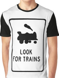 Look for Trains Graphic T-Shirt