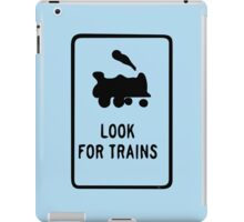 Look for Trains iPad Case/Skin