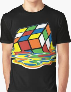 Melting Rubix Graphic T-Shirt