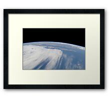 Heavy cloud cover over the Pacific Ocean. Framed Print