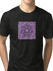 Abstracted Twirl Pink Hydrangea Flowers Tri-blend T-Shirt