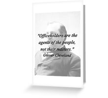 Officeholders - Grover Cleveland Greeting Card
