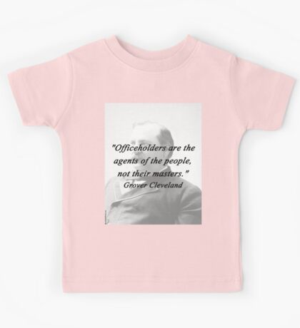 Officeholders - Grover Cleveland Kids Tee