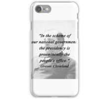 Presidency - Grover Cleveland iPhone Case/Skin