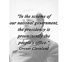 Presidency - Grover Cleveland Photographic Print