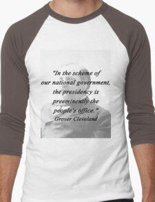 Presidency - Grover Cleveland Men's Baseball ¾ T-Shirt