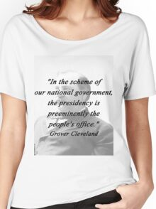 Presidency - Grover Cleveland Women's Relaxed Fit T-Shirt