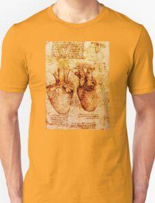 Heart And Its Blood Vessels, Leonardo Da Vinci Anatomy Drawings, Brown T-Shirt