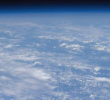 An oblique horizon view of the Earth's atmosphere. Sticker
