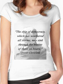 Ship of Democracy - Grover Cleveland Women's Fitted Scoop T-Shirt