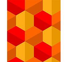 Hex pattern 1 Photographic Print