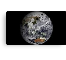 Cloud simulation of the full Earth.  Canvas Print