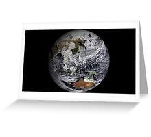 Cloud simulation of the full Earth.  Greeting Card