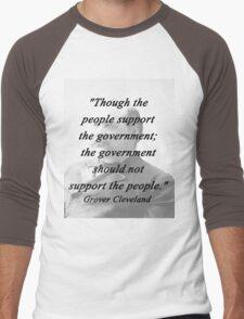 Support - Grover Cleveland Men's Baseball ¾ T-Shirt